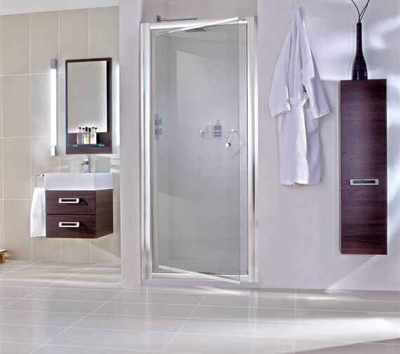 Aqata Exclusive ES240 760mm Left Hand Pivot Shower Door For Recess Installation