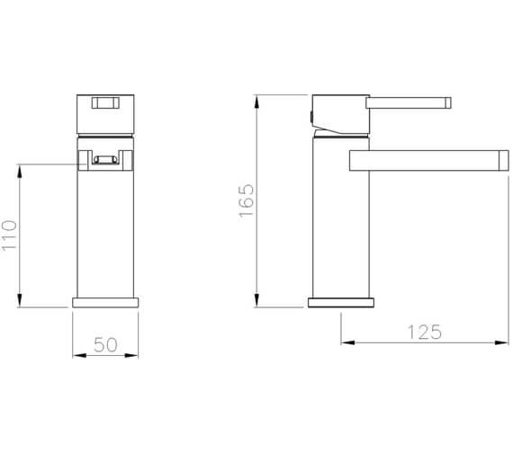 Alternate image of Abode Modo Monobloc Deck Mounted Basin Mixer Tap