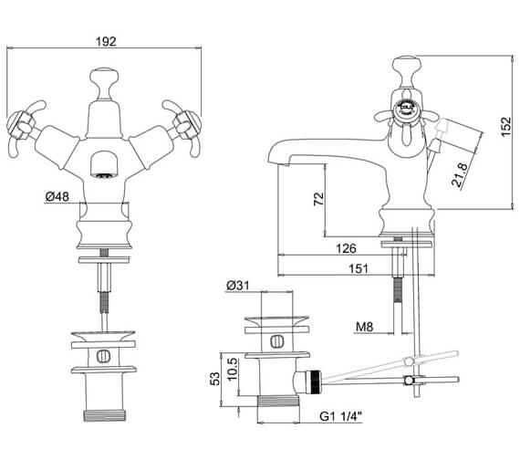Technical drawing QS-V55906 / ANR4
