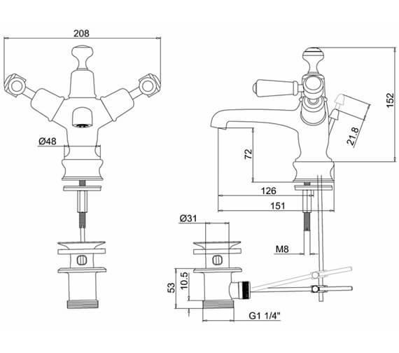 Technical drawing QS-V70362 / KER4