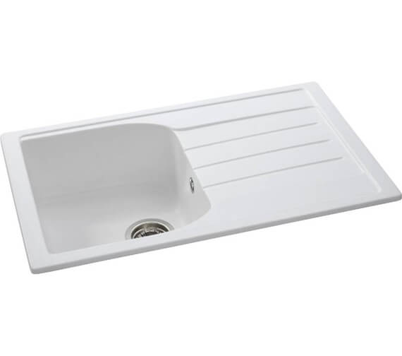 Abode Oriel 1.0 Bowl Kitchen Sink With Drainer