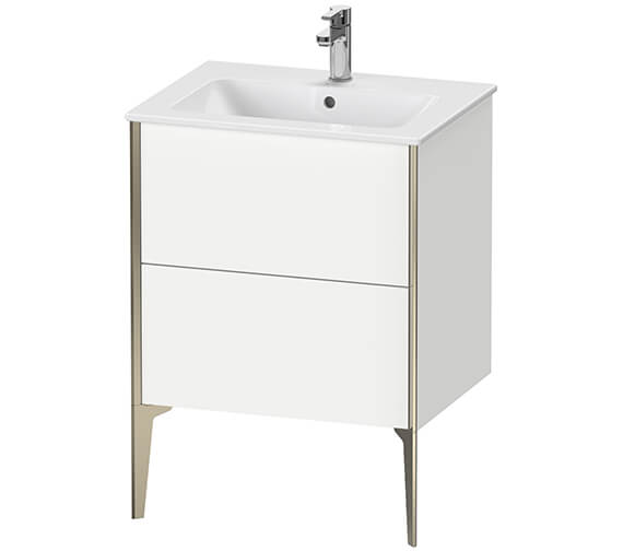 Duravit XViu 2 Pull-out Compartment Floor Standing Vanity Unit With ME By Starck Basin