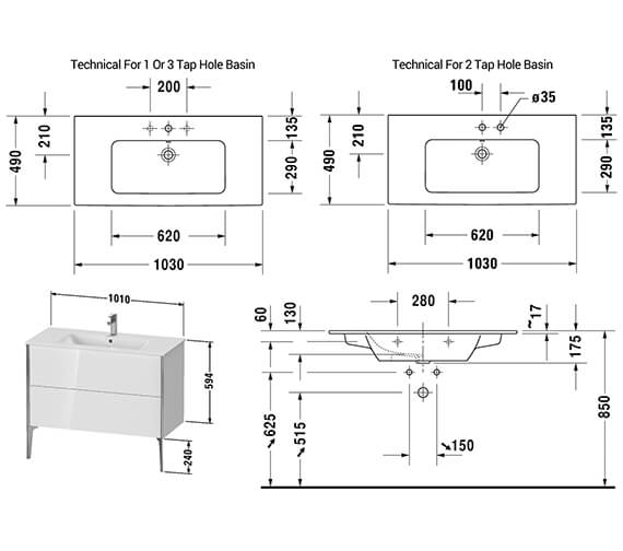 Technical drawing QS-V42538 / XV44810B118