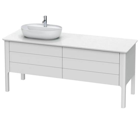 Duravit Luv 1783 x 570mm 1 Cut-Out 2 Compartment And 2 Drawer Vanity Unit