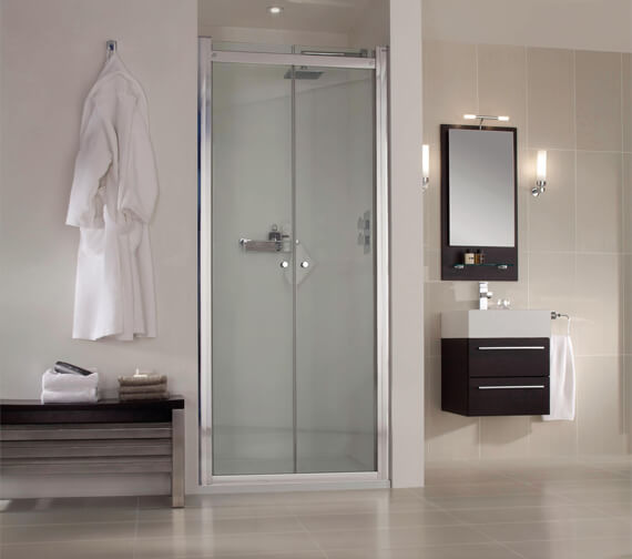 Aqata Spectra SP462 Inward Opening Hinged Double Shower Door For Recess Installation