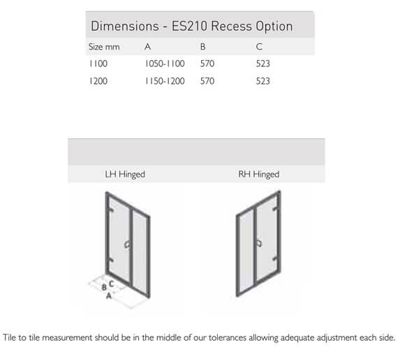 Technical drawing QS-V100161 / ES210-1100LHH