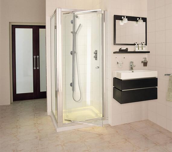 Aqata Exclusive ES245 Pivot Door Corner Shower Enclosure 760 x 760mm