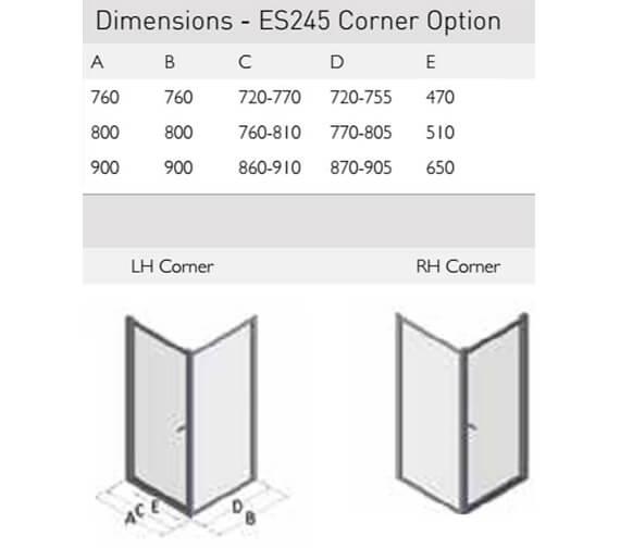 Technical drawing QS-V100162 / ES245-76x76LHC