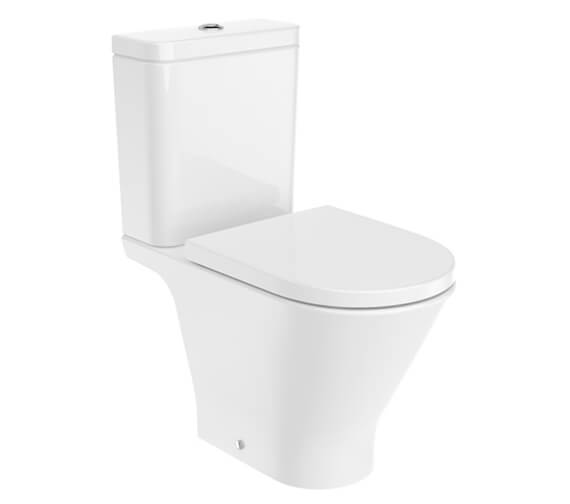 Roca The Gap Round Close-Coupled Rimless WC With Cistern
