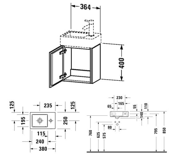 Technical drawing QS-V95683 / LC6293L1818