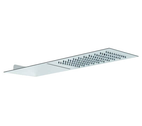 Abode Storm Slimline 3mm Wall Mounted Stainless Steel 500mm x 250mm Showerhead