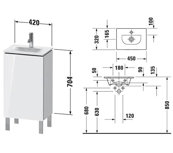 Technical drawing QS-V96242 / LC6580L1818