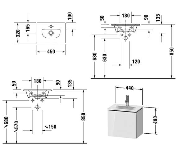 Technical drawing QS-V89495 / LC6133L1818