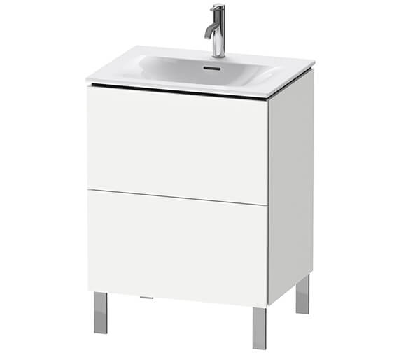 Duravit L-Cube Floor Standing 2 Pull Out Compartment Vanity Unit For Viu Basin