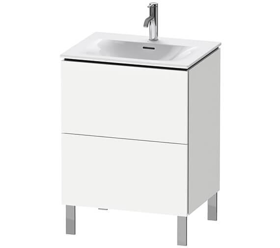 Duravit L-Cube Floor Standing 2 Drawer Vanity Unit For Viu Basin