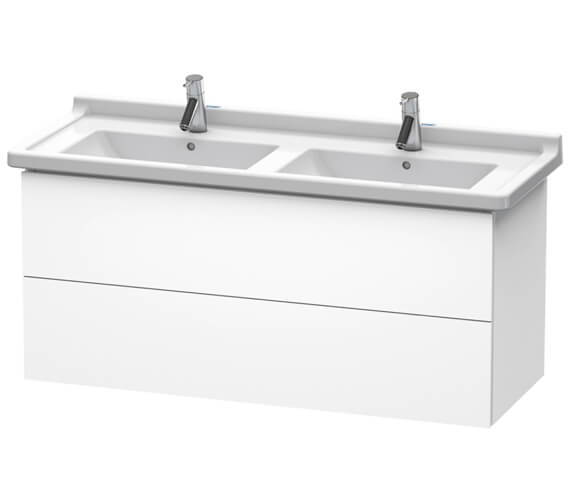 Duravit L-Cube 1220mm Wall Mounted 2 Drawer Vanity Unit For Starck 3 Basin