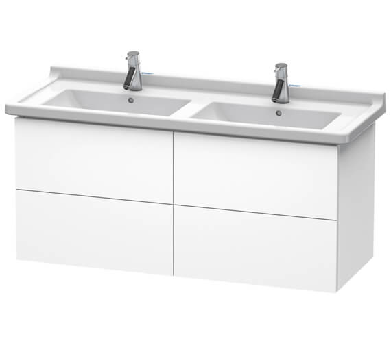 Duravit L-Cube 1220mm Wall Mounted 4 Drawer Vanity Unit For Starck 3 Basin