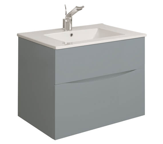 Additional image of Crosswater Glide II 700mm Double Drawer Vanity Unit