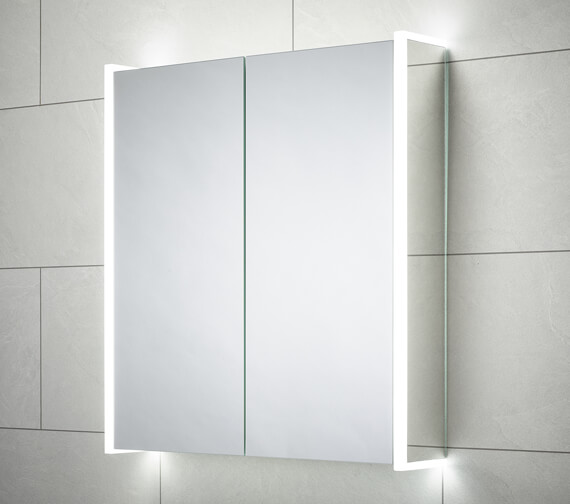 Sensio Ainsley 564 x 700mm Double Door Diffused LED Side Strips Mirror Cabinet