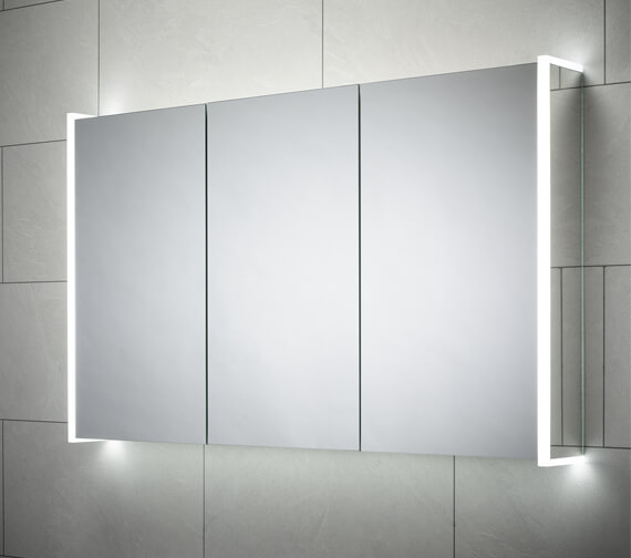 Sensio Ainsley 1200 x 700mm Three Door Diffused LED Side Strips Mirror Cabinet