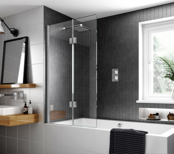 Aqata Design Authentic Inward Or Outward Opening Bath Screen 900 x 1500mm