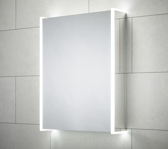Sensio Ainsley 564 x 700mm Single Door Diffused LED Side Strips Mirror Cabinet