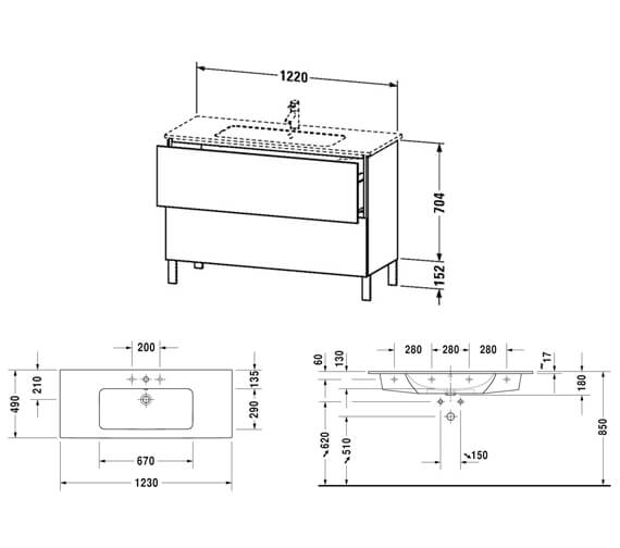 Technical drawing QS-V63781 / LC662501818