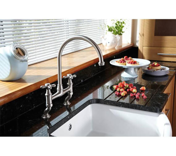 Additional image of Abode Langley Bridge Dual Lever Kitchen Mixer Tap