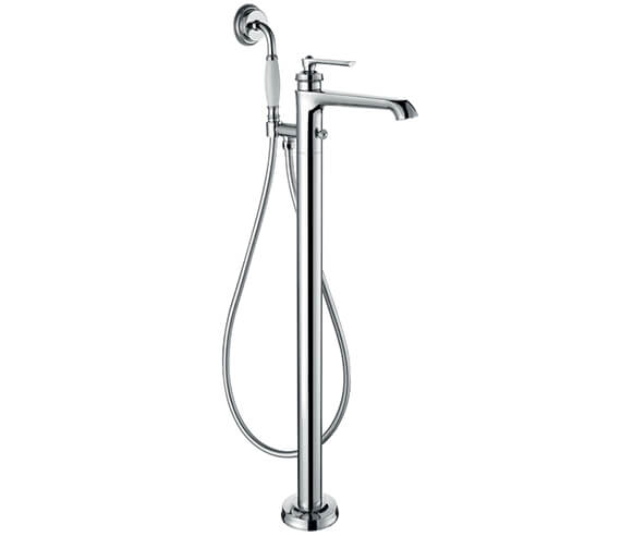 Flova Liberty Floor Standing Bath And Shower Mixer Tap With Shower