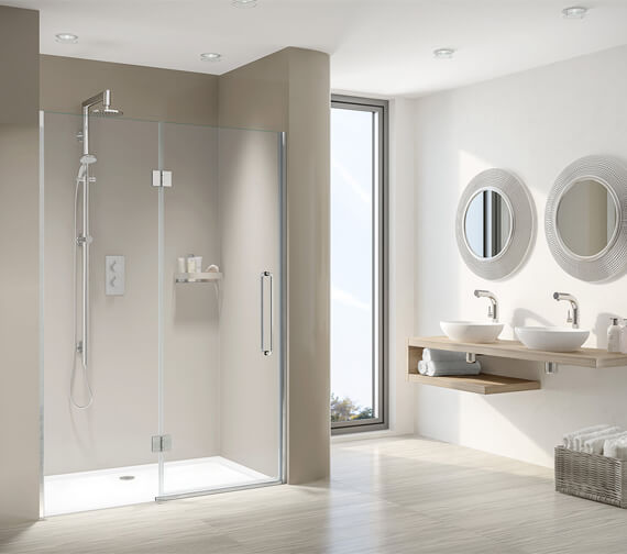 Aqata Design DS459 Luxurious Hinged Door And Inline Panel For Recess