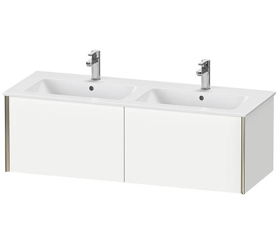 Duravit XViu 2 Pull-out Compartment Wall-Mounted 1280mm Vanity Unit With ME By Starck Basin