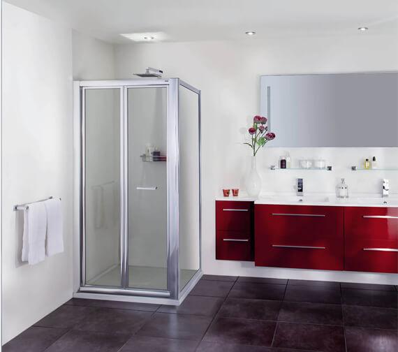 Aqata Exclusive ES265 Heavy-Duty Bi-Fold Door Corner Shower Enclosure