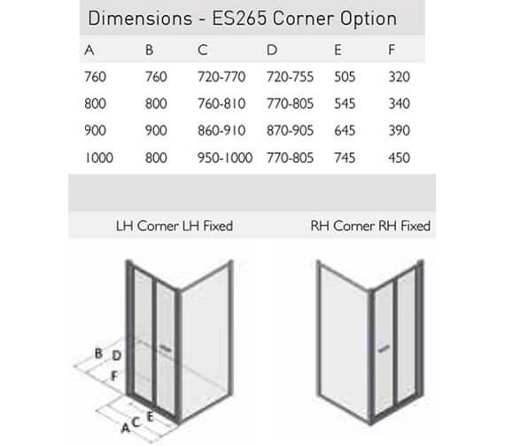 Technical drawing QS-V100166 / ES265-76X76LHC