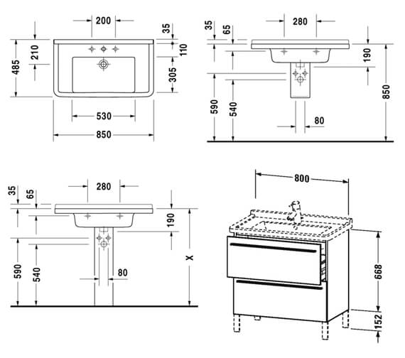 Technical drawing QS-V4419 / XL653500707