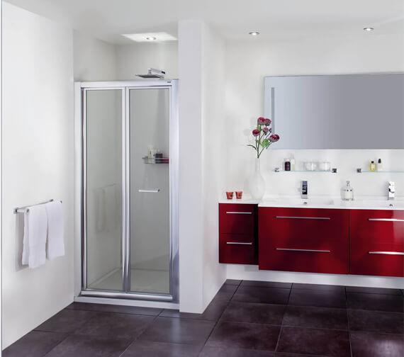 Aqata Exclusive ES260 Bi-Fold Shower Door For Recess  - Toughened Safety Glass