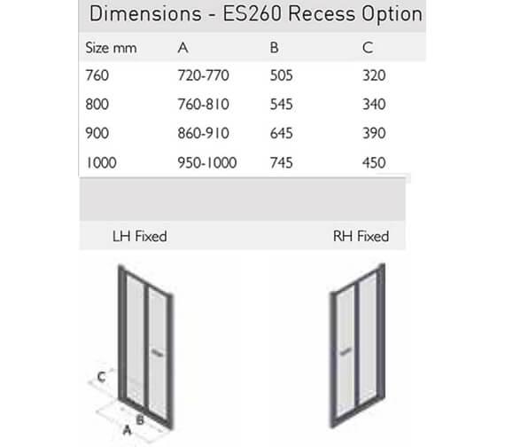 Technical drawing QS-V100164 / ES260-760LHF