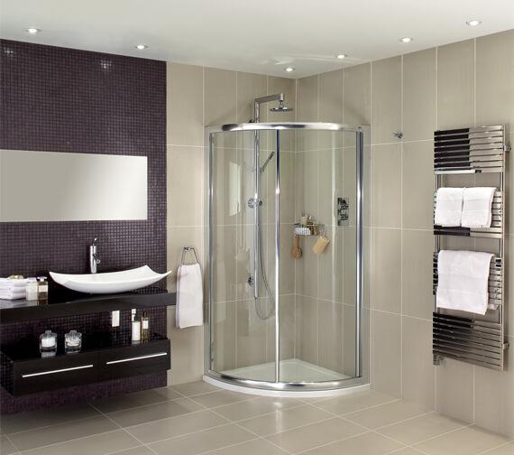 Aqata Exclusive ES350 Single Door Quadrant Shower Enclosure 900 x 900mm