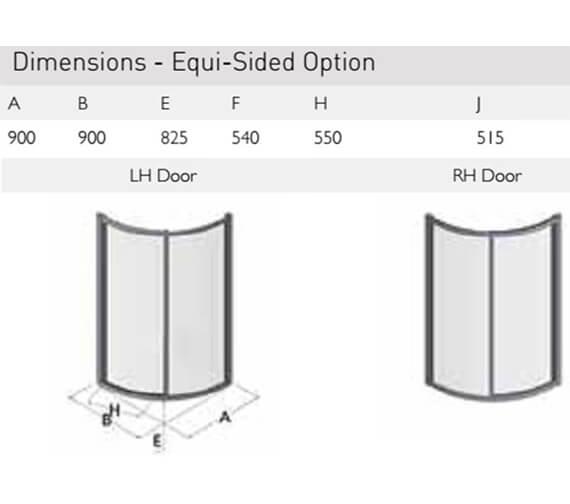 Technical drawing QS-V100169 / ES350-9x9LHD