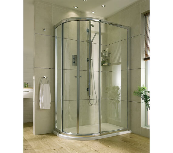 Aqata Exclusive ES360 Quadrant 550 Radius 900 x 800mm Sliding Shower Door