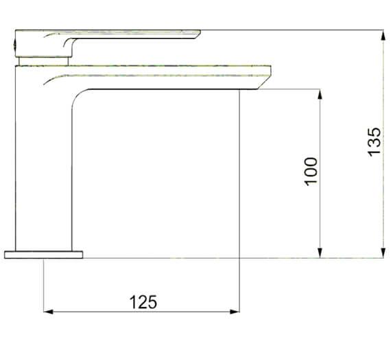 Technical drawing QS-V82104 / PI110DNC