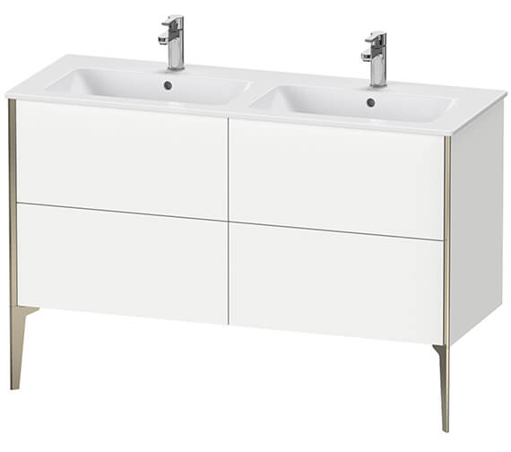 Duravit XViu 4 Pull-Out Compartments Floor Standing 1280mm Vanity Unit With ME By Starck Basin