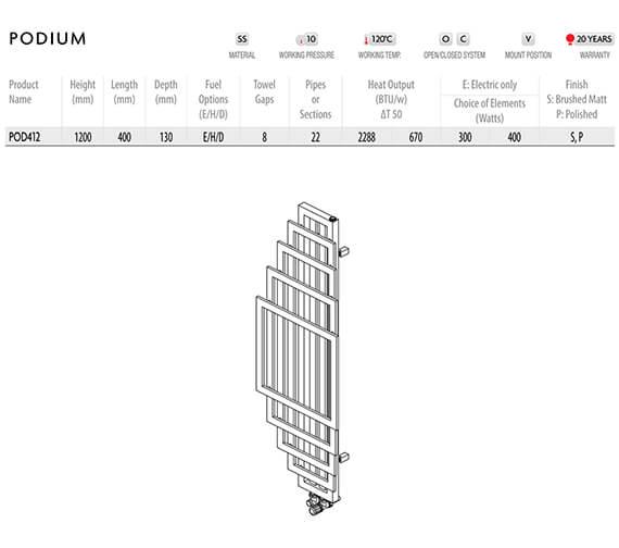 Technical drawing QS-V96261 / POD412-S