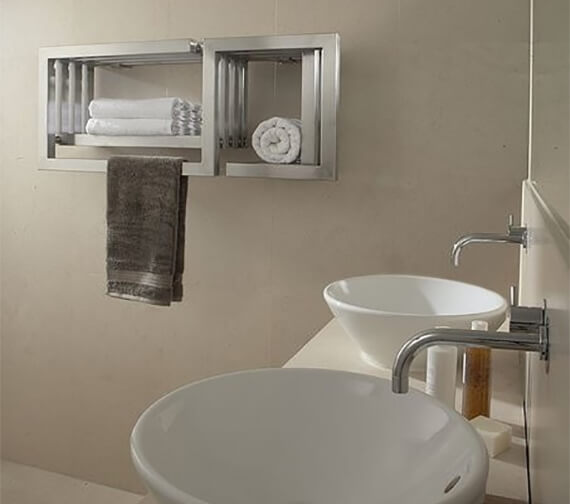 Aeon S-Type Wall Mounted Stainless Steel Towel Rail
