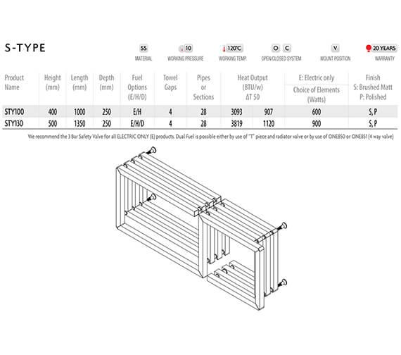 Technical drawing QS-V96262 / STY100-S