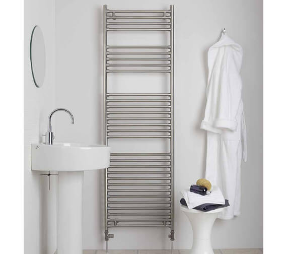 Aeon Seren 650mm Wide Wall Mounted Stainless Steel Towel Rail