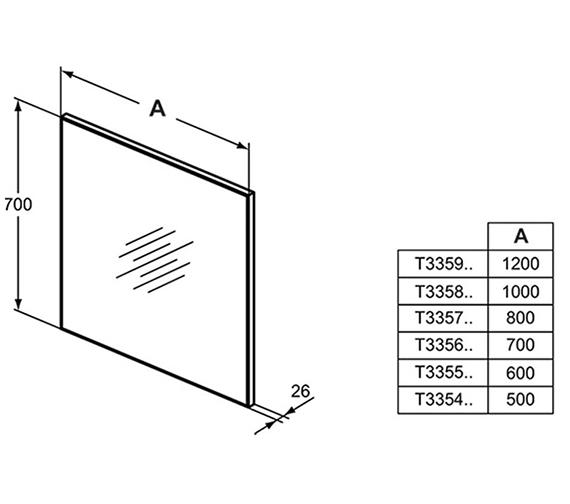 Technical drawing QS-V42545 / T3354BH