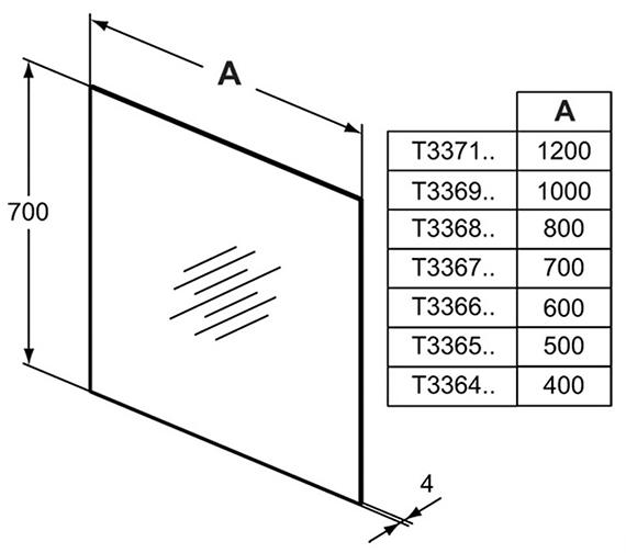Technical drawing QS-V101049 / T3364BH