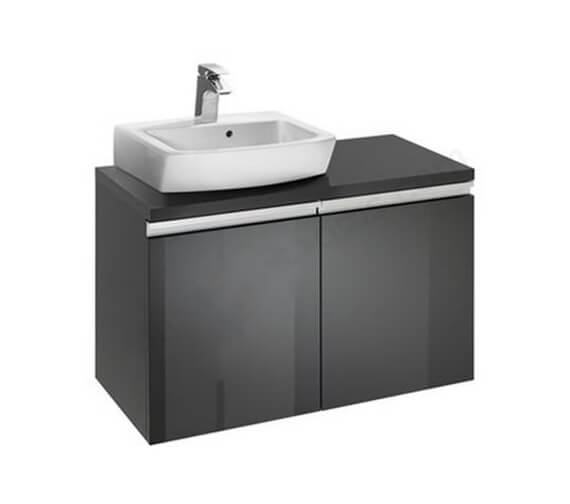 Roca H And H 820mm Left Handed Vanity Unit With 2 Drawer