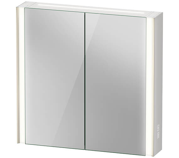 Duravit Xviu 800mm High Double Door Mirror Cabinet With LED Lighting