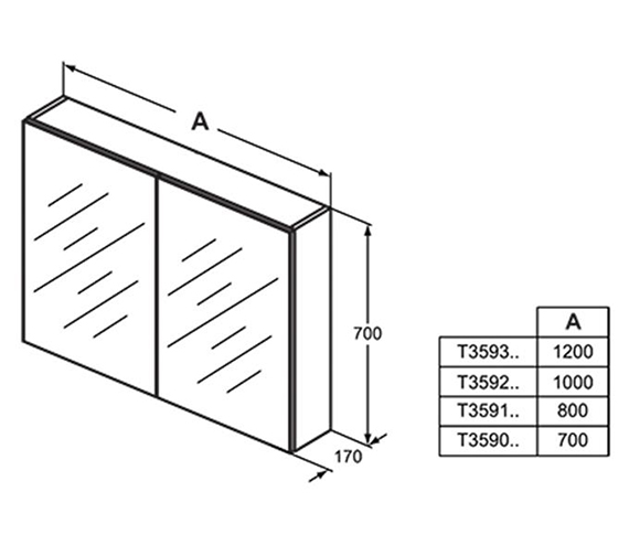 Technical drawing QS-V101054 / T3590AL